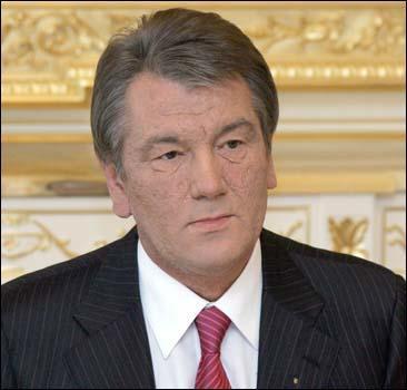 Именинник Ющенко принимает поздравления - 20070223204525538_1