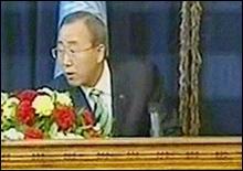 Генсек ООН пережил обстрел в прямом эфире - 20070322183334301_1