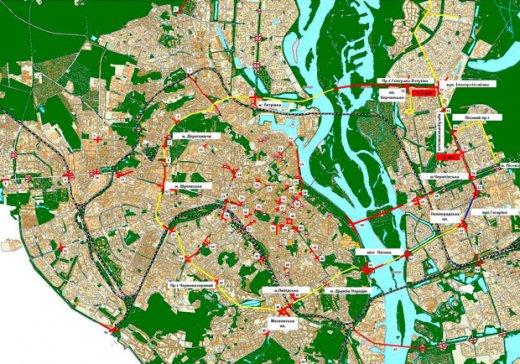 В интернет появилась карта автомобильных заторов Киева. ФОТО - 2007101509531940_1