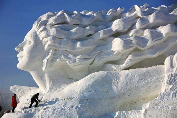 Снежная скульптура «Романтические Чувства» - 20071219195207823_1