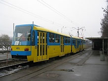 На Борщаговке открылся участок линии скоростного трамвая - 20080408101543383_1