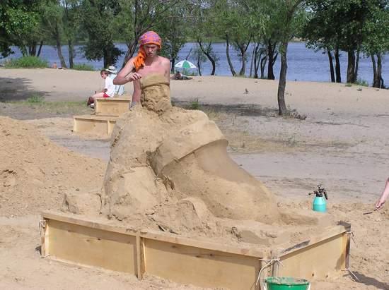 Фестиваль песчаной скульптуры 2004 год, Оболонь (фото из архива) - Festival-peschanoj-skulptury-2004-Obolon_13