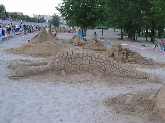 Фестиваль песчаной скульптуры 2004 год, Оболонь (фото из архива) - Festival-peschanoj-skulptury-2004-Obolon_18