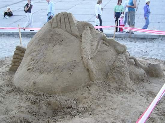 Фестиваль песчаной скульптуры 2004 год, Оболонь (фото из архива) - Festival-peschanoj-skulptury-2004-Obolon_21