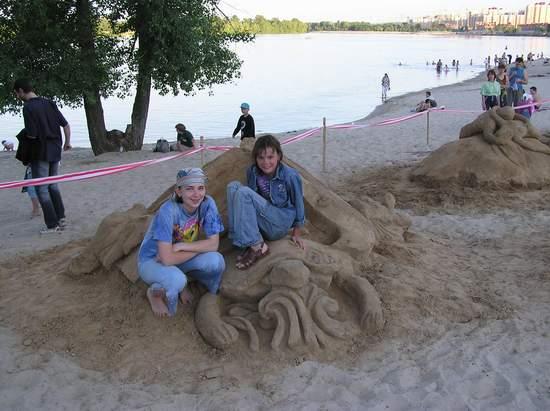 Фестиваль песчаной скульптуры 2004 год, Оболонь (фото из архива) - Festival-peschanoj-skulptury-2004-Obolon_22