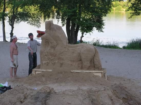 Фестиваль песчаной скульптуры 2004 год, Оболонь (фото из архива) - Festival-peschanoj-skulptury-2004-Obolon_29