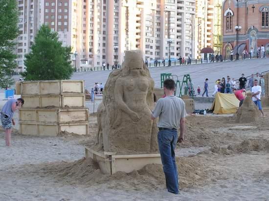Фестиваль песчаной скульптуры 2004 год, Оболонь (фото из архива) - Festival-peschanoj-skulptury-2004-Obolon_34