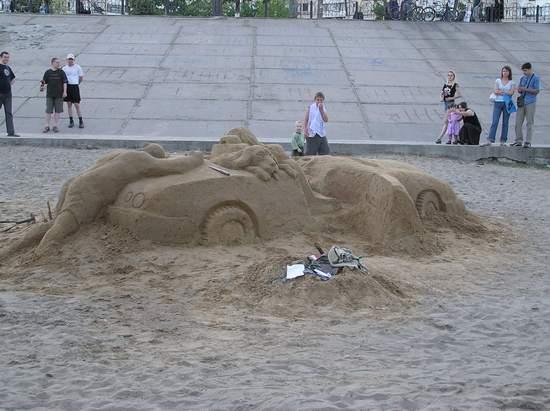 Фестиваль песчаной скульптуры 2004 год, Оболонь (фото из архива) - Festival-peschanoj-skulptury-2004-Obolon_37