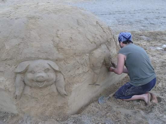 Фестиваль песчаной скульптуры 2004 год, Оболонь (фото из архива) - Festival-peschanoj-skulptury-2004-Obolon_42
