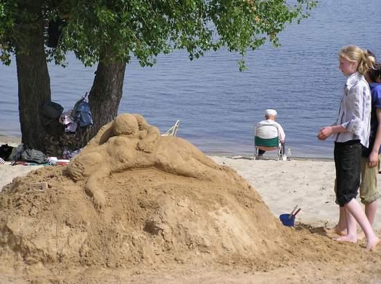 Фестиваль песчаной скульптуры 2004 год, Оболонь (фото из архива) - Festival-peschanoj-skulptury-2004-Obolon_7