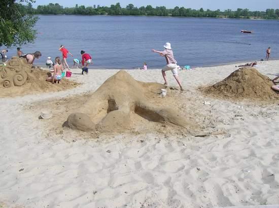 Фестиваль песчаной скульптуры 2004 год, Оболонь (фото из архива) - Festival-peschanoj-skulptury-2004-Obolon_9
