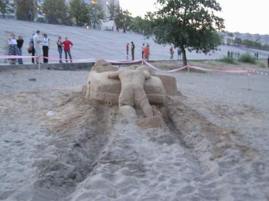 Фестиваль песчаной скульптуры 2004 год, Оболонь (фото из архива, часть 2) - Festival-peschanoj-skulptury-2004Obolon2_11