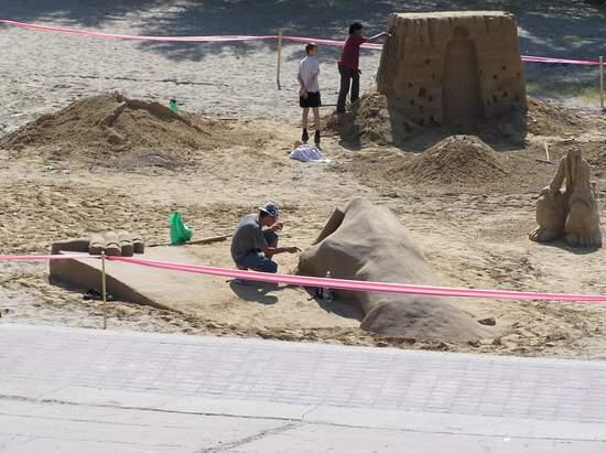 Фестиваль песчаной скульптуры 2004 год, Оболонь (фото из архива, часть 2) - Festival-peschanoj-skulptury-2004Obolon2_12