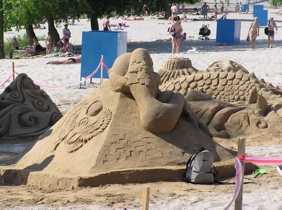 Фестиваль песчаной скульптуры 2004 год, Оболонь (фото из архива, часть 2) - Festival-peschanoj-skulptury-2004Obolon2_16