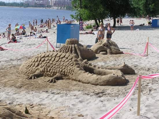 Фестиваль песчаной скульптуры 2004 год, Оболонь (фото из архива, часть 2) - Festival-peschanoj-skulptury-2004Obolon2_17