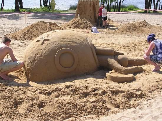 Фестиваль песчаной скульптуры 2004 год, Оболонь (фото из архива, часть 2) - Festival-peschanoj-skulptury-2004Obolon2_20