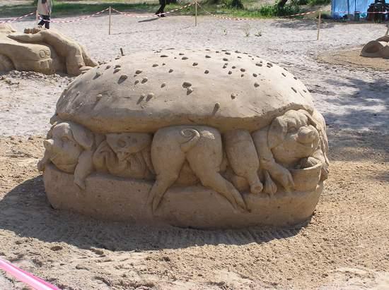 Фестиваль песчаной скульптуры 2004 год, Оболонь (фото из архива, часть 2) - Festival-peschanoj-skulptury-2004Obolon2_27