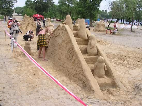 Фестиваль песчаной скульптуры 2004 год, Оболонь (фото из архива, часть 2) - Festival-peschanoj-skulptury-2004Obolon2_36