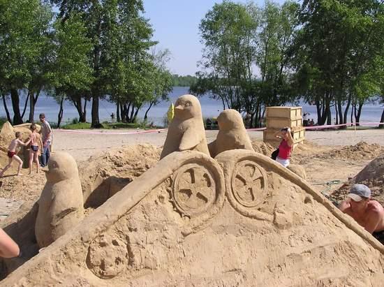 Фестиваль песчаной скульптуры 2004 год, Оболонь (фото из архива, часть 2) - Festival-peschanoj-skulptury-2004Obolon2_6