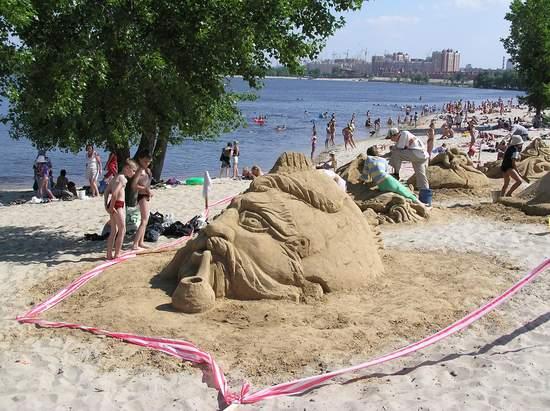 Фестиваль песчаной скульптуры 2004 год, Оболонь (фото из архива, часть 2) - Festival-peschanoj-skulptury-2004Obolon2_8