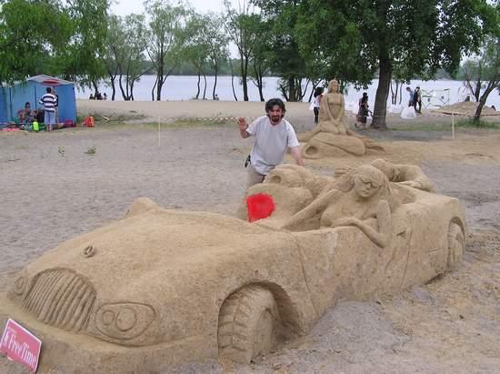 Фестиваль песчаной скульптуры 2004 год, Оболонь (фото из архива, часть 3) - Festival-peschanoj-skulptury-2004Obolon3_23