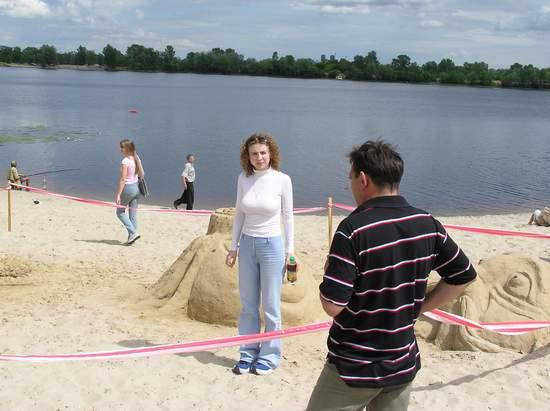 Фестиваль песчаной скульптуры 2004 год, Оболонь (фото из архива, часть 3) - Festival-peschanoj-skulptury-2004Obolon3_43