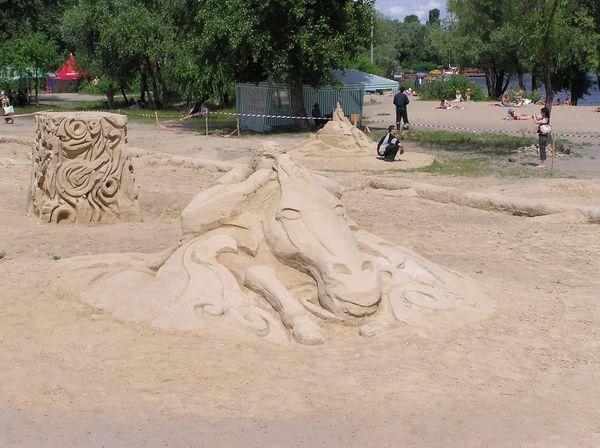 Фестиваль песчаной скульптуры 2005 год, Оболонь (23 фото из архива) - Festival-peschanoj-skulptury-2005-Obolon_18