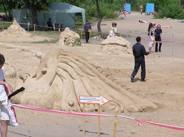 Фестиваль песчаной скульптуры 2005 год, Оболонь (23 фото из архива) - Festival-peschanoj-skulptury-2005-Obolon_7