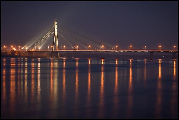 Киев. Вид на Московский мост и район Оболонь. - Kiev-Vid-na-Moskovskij-most-Obolon_1