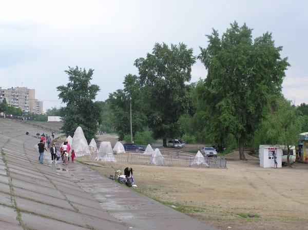 Выставка песчаной скульптуры на Оболони, 2009 год - Vystavka-peschanoj-skulptury-na-Oboloni_2