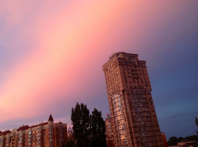 Красивый закат на Оболони 11 июля 2012 (2 фото) - krasivyj-zakat-na-oboloni-11-ijulja-2012-2-foto_1