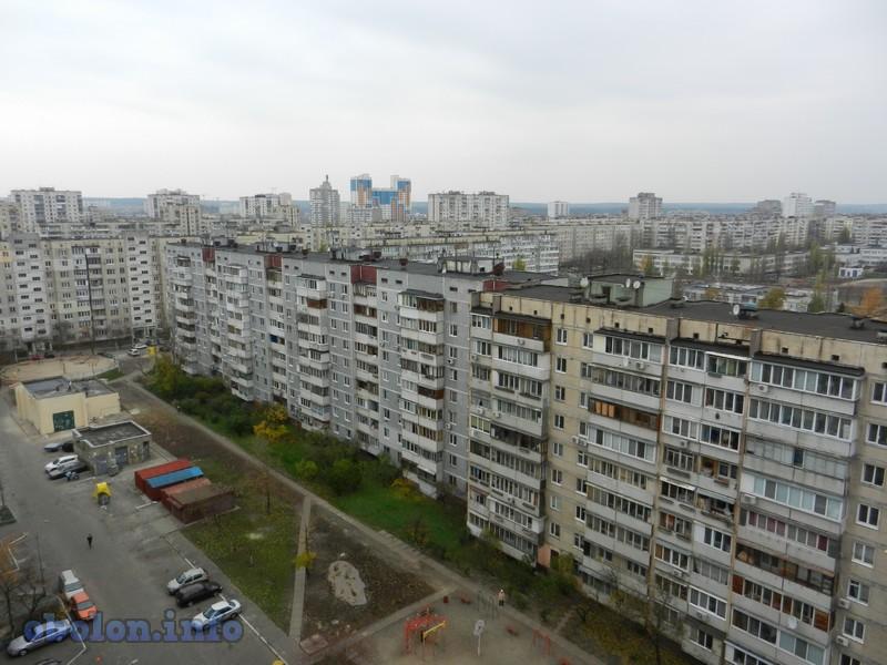 История и новости Оболони Крыши Оболони, вид с Тимошенко 19 (7 фото)