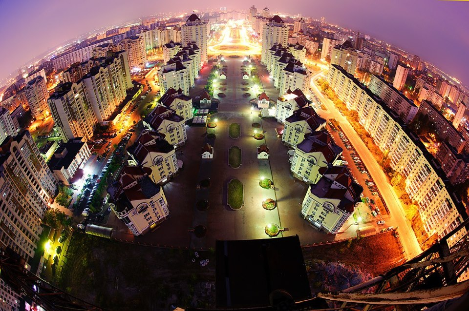 Оболонь, вид с башенного крана (фото) - obolon-vid-s-bashennogo-krana-foto_1