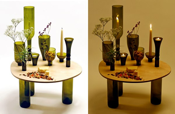 Украшаем дизайн интерьера стеклянной тарой (5 фото) - ukrashaem-dizajn-interera-stekljannoj-taroj-5-foto_2