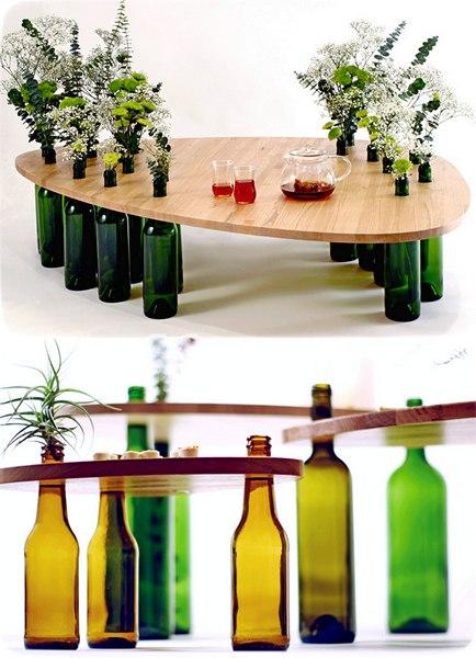 Украшаем дизайн интерьера стеклянной тарой (5 фото) - ukrashaem-dizajn-interera-stekljannoj-taroj-5-foto_3