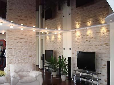 Оригинальная деталь для небольшой комнаты – натяжной потолок - zz4